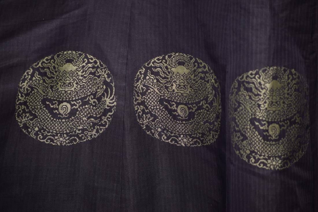Qing Chinese Embroidered Emperor's Summer Robe - 14