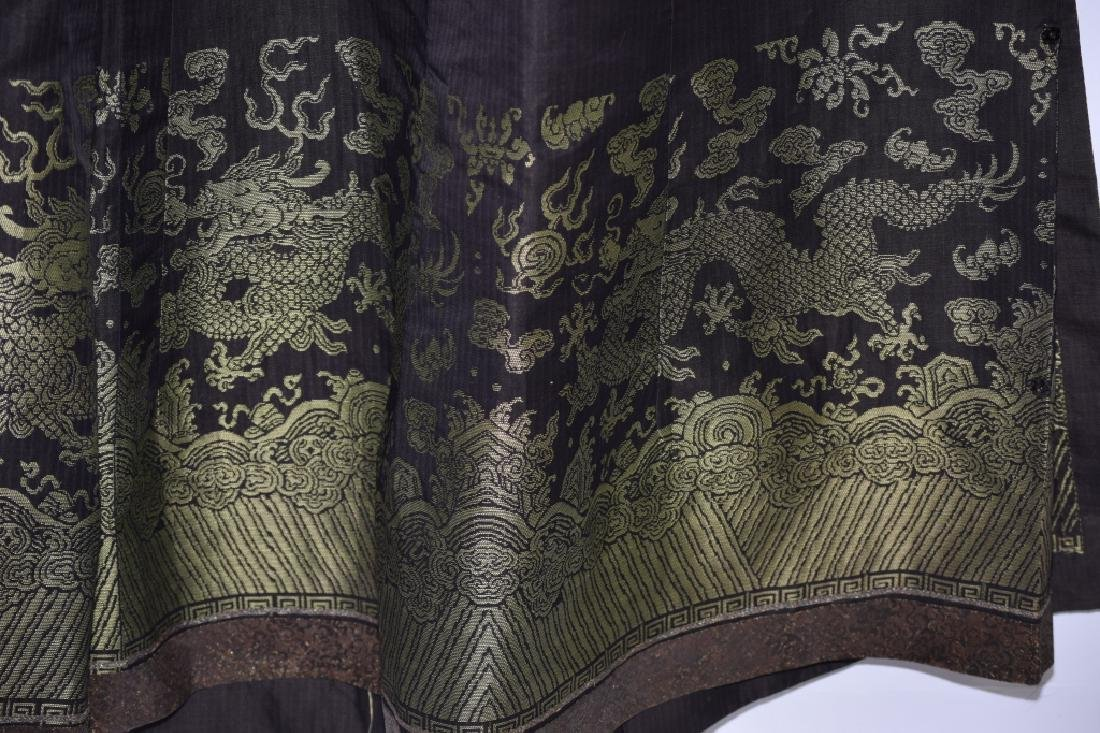 Qing Chinese Embroidered Emperor's Summer Robe - 15