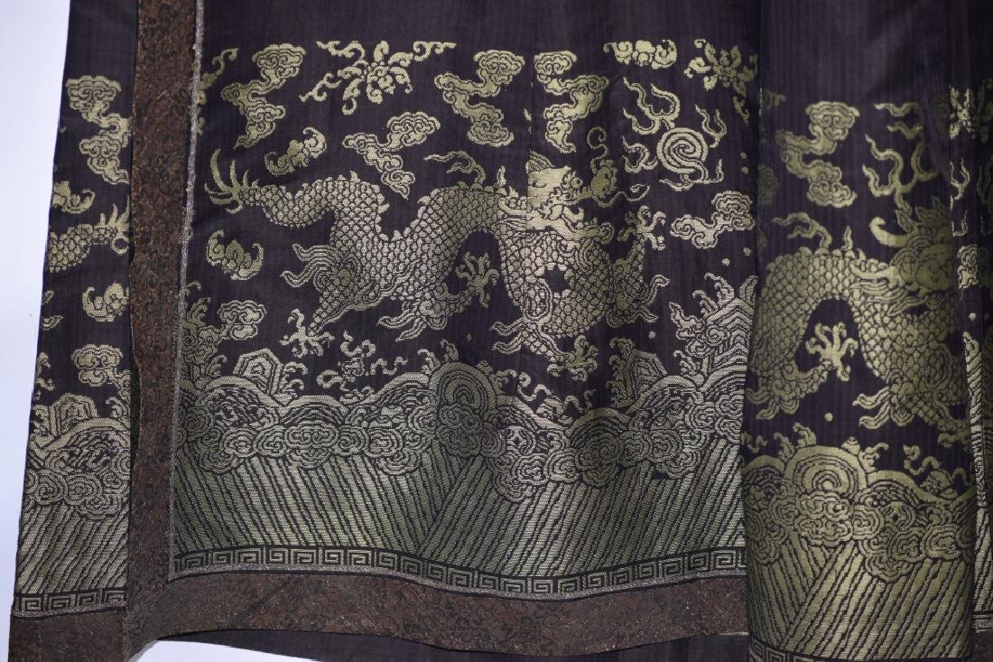 Qing Chinese Embroidered Emperor's Summer Robe - 16