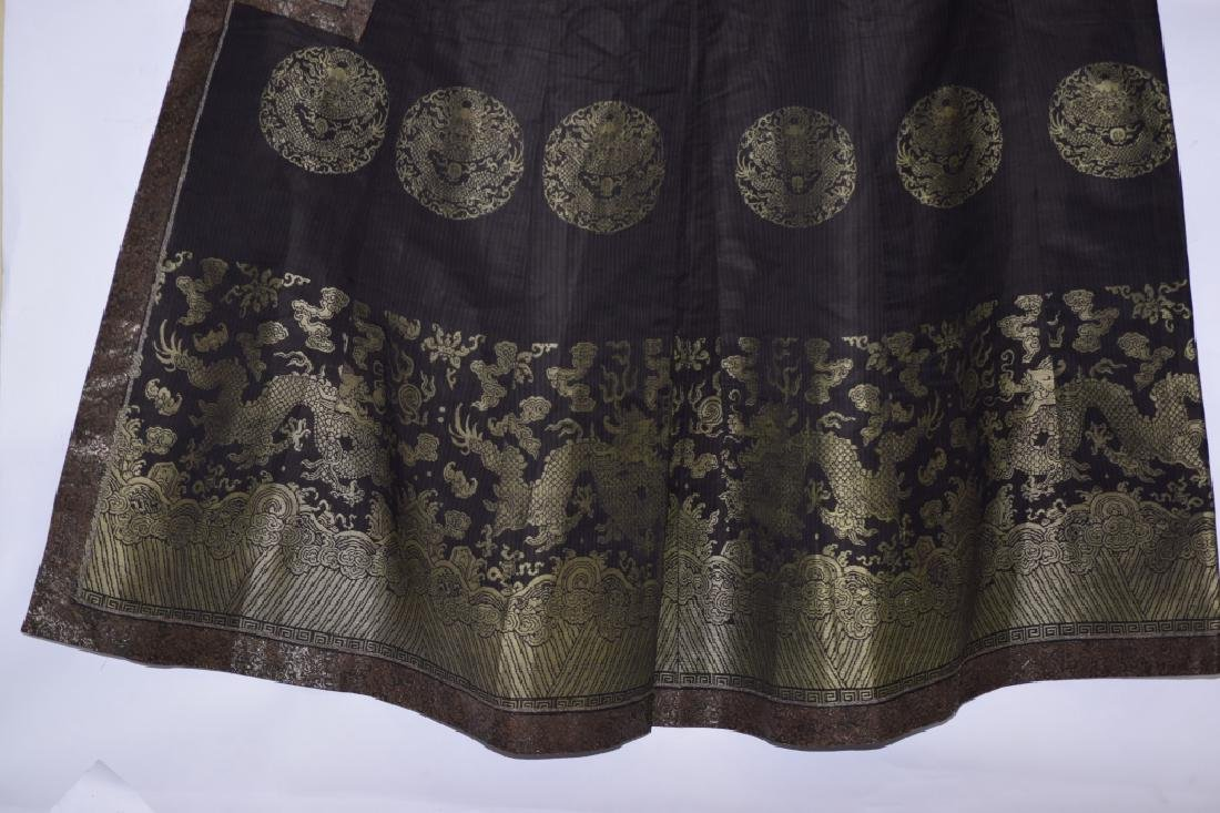 Qing Chinese Embroidered Emperor's Summer Robe - 3