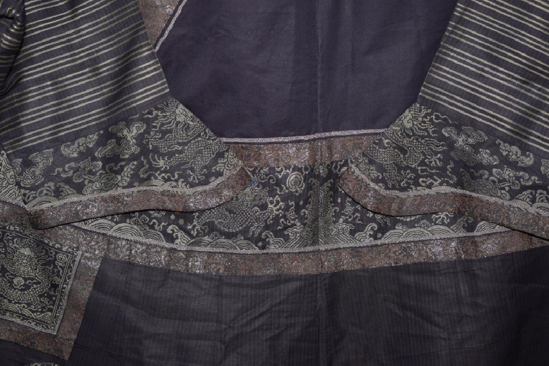 Qing Chinese Embroidered Emperor's Summer Robe - 4