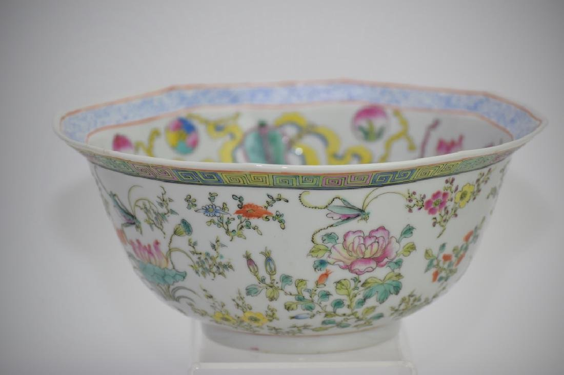 Republic Chinese Famille Rose Bowl