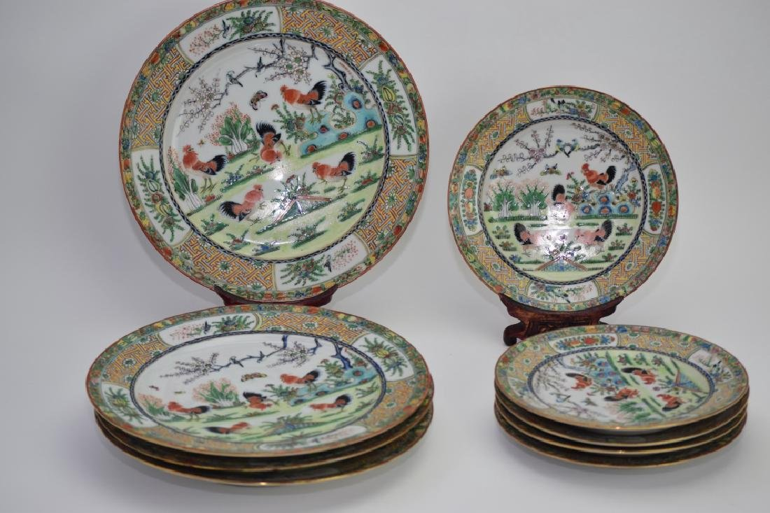19th C. Chinese Export Famille Rose Plates
