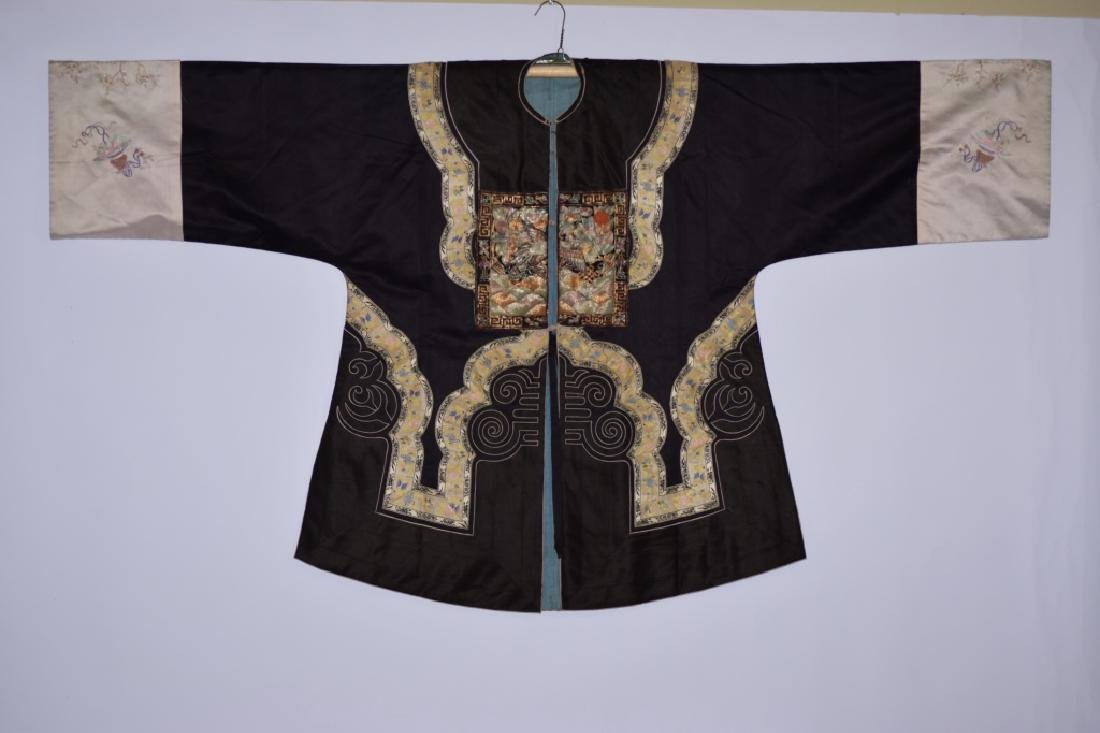 Qing Chinese Embroidered Court Lady Robe