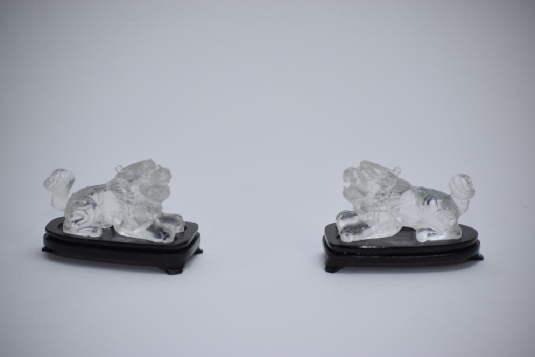 Pair of Qing Chinese Rock Crystal Lions