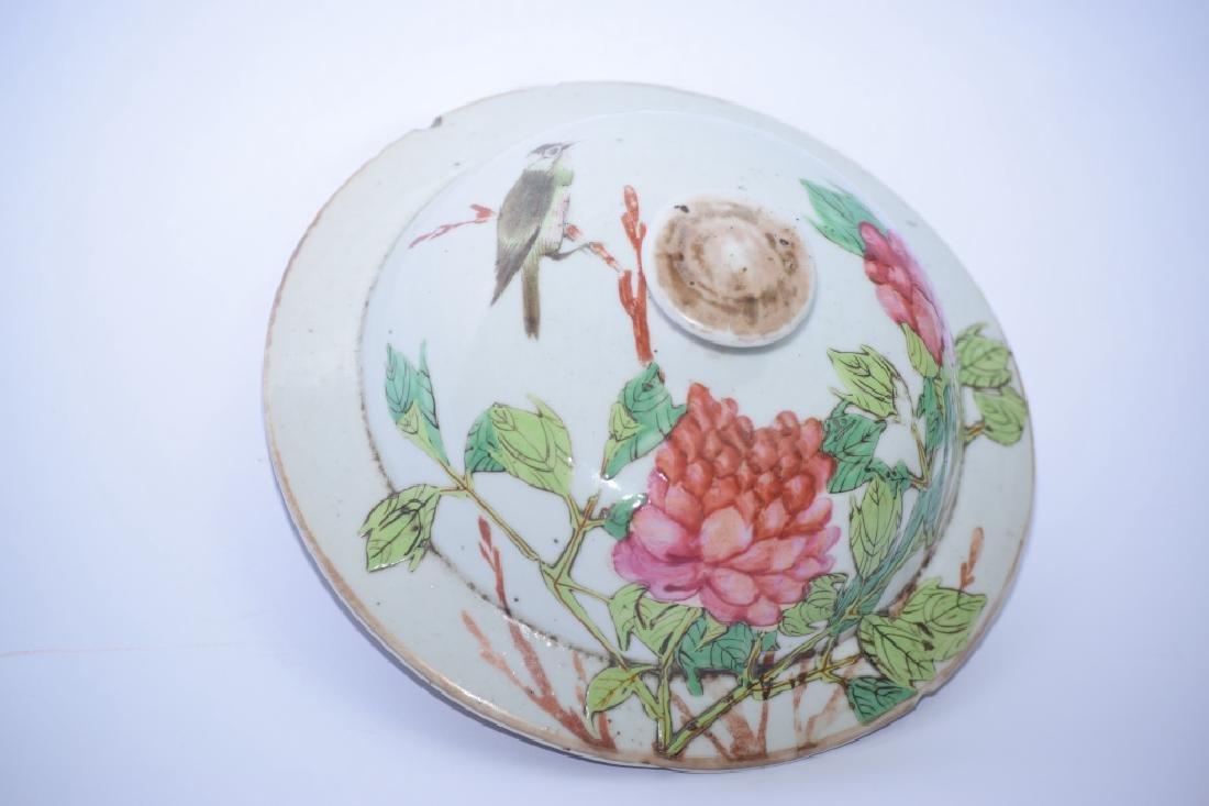 Qing Chinese Famille Verte Covered Jar, Zhang ZiYing - 6
