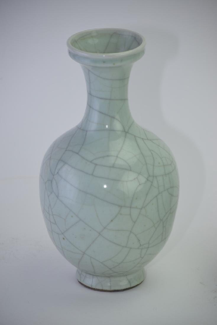 Pair of Republic Chinese Faux Ge Glaze Vases - 2