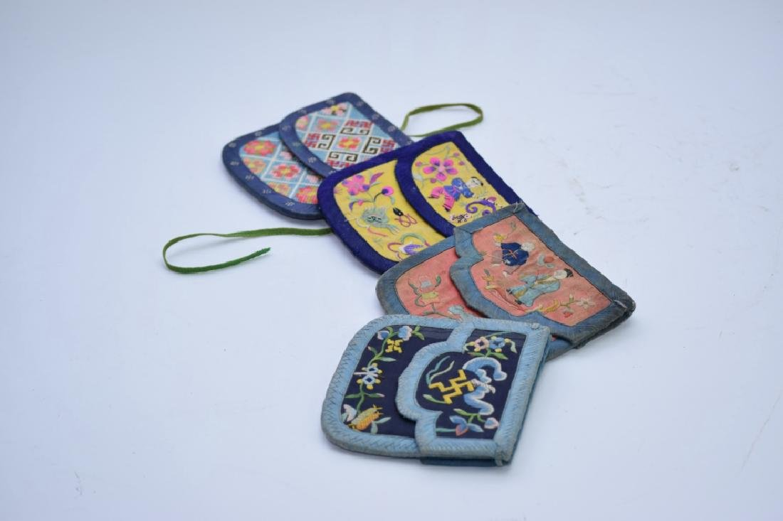 Group of Qing Chinese Embroidered Pouches - 6