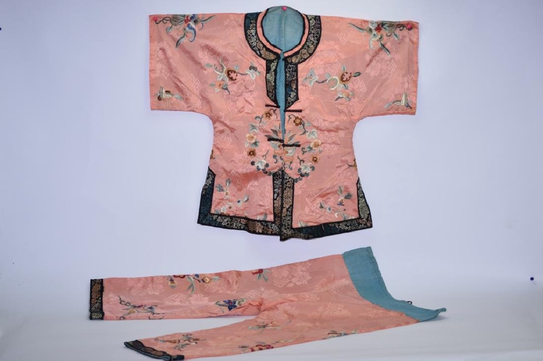 Set of Qing Chinese Embroidered Child's Clothes