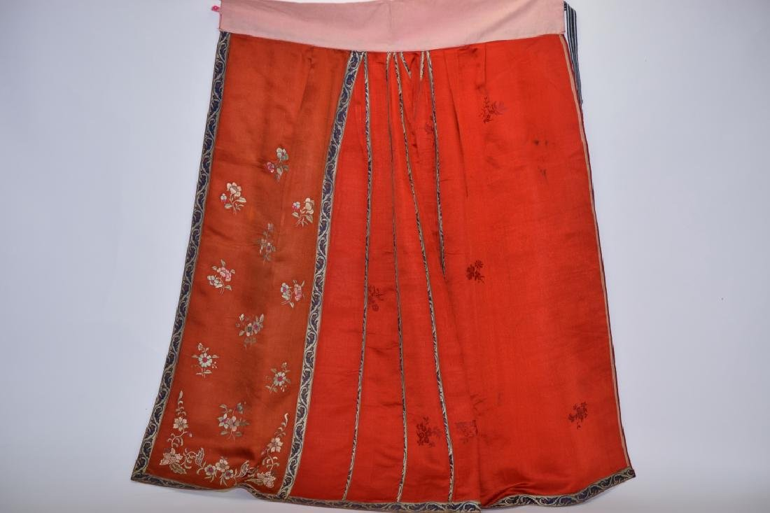 Qing Chinese Embroidered Skirt