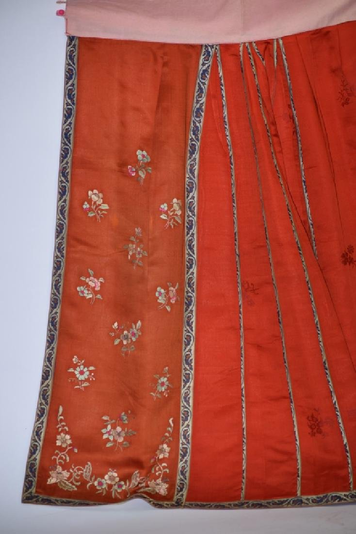 Qing Chinese Embroidered Skirt - 2