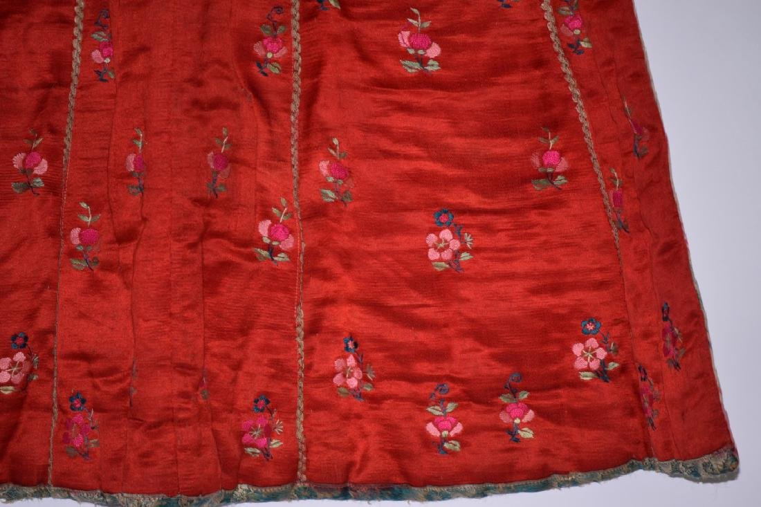 Qing Chinese Embroidered Skirt - 3