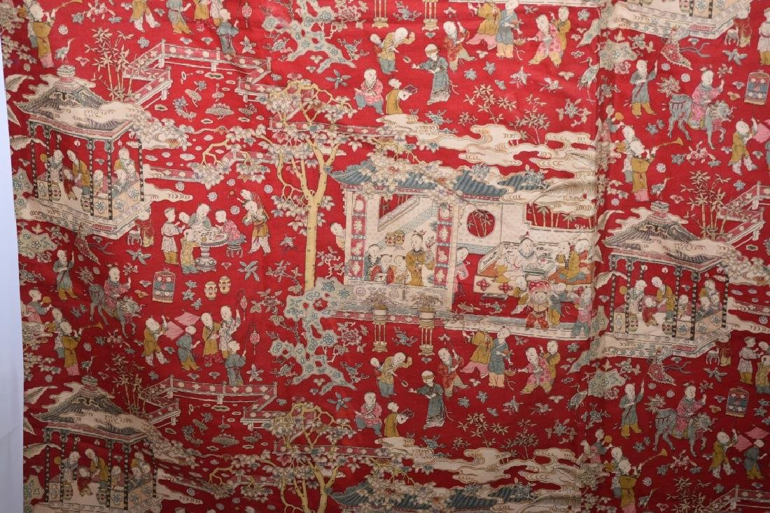 Qing Chinese Embroidery of Hundred Children - 5