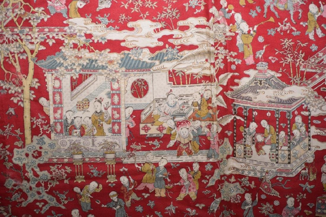 Qing Chinese Embroidery of Hundred Children - 6