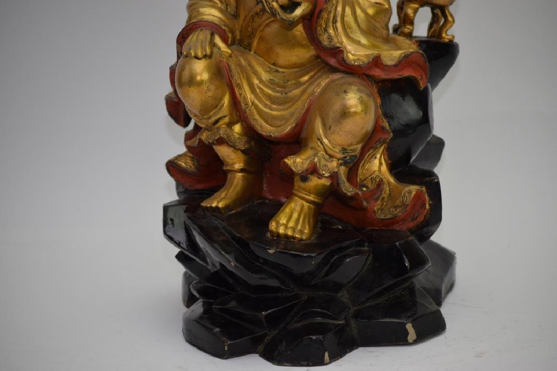 Chinese Gilt Wood Carved LuoHan - 3