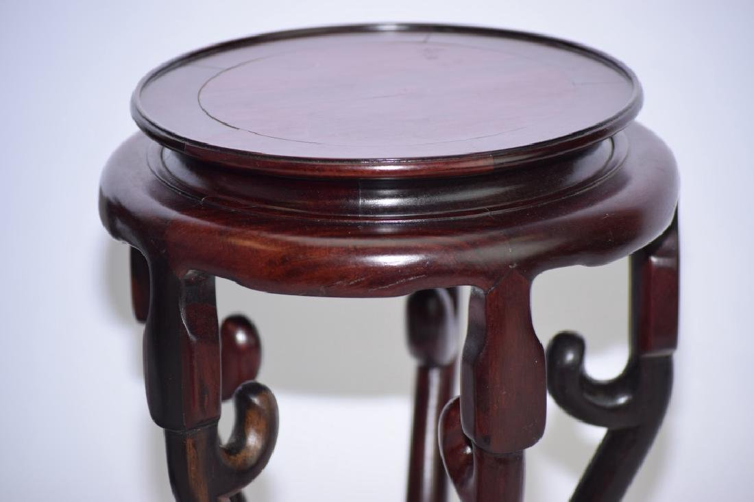 Pair of Chinese Wood Carved Flower Pot Stands - 3