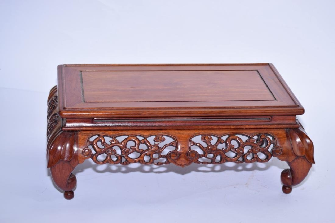 Republic Chinese Wood Carved Stand