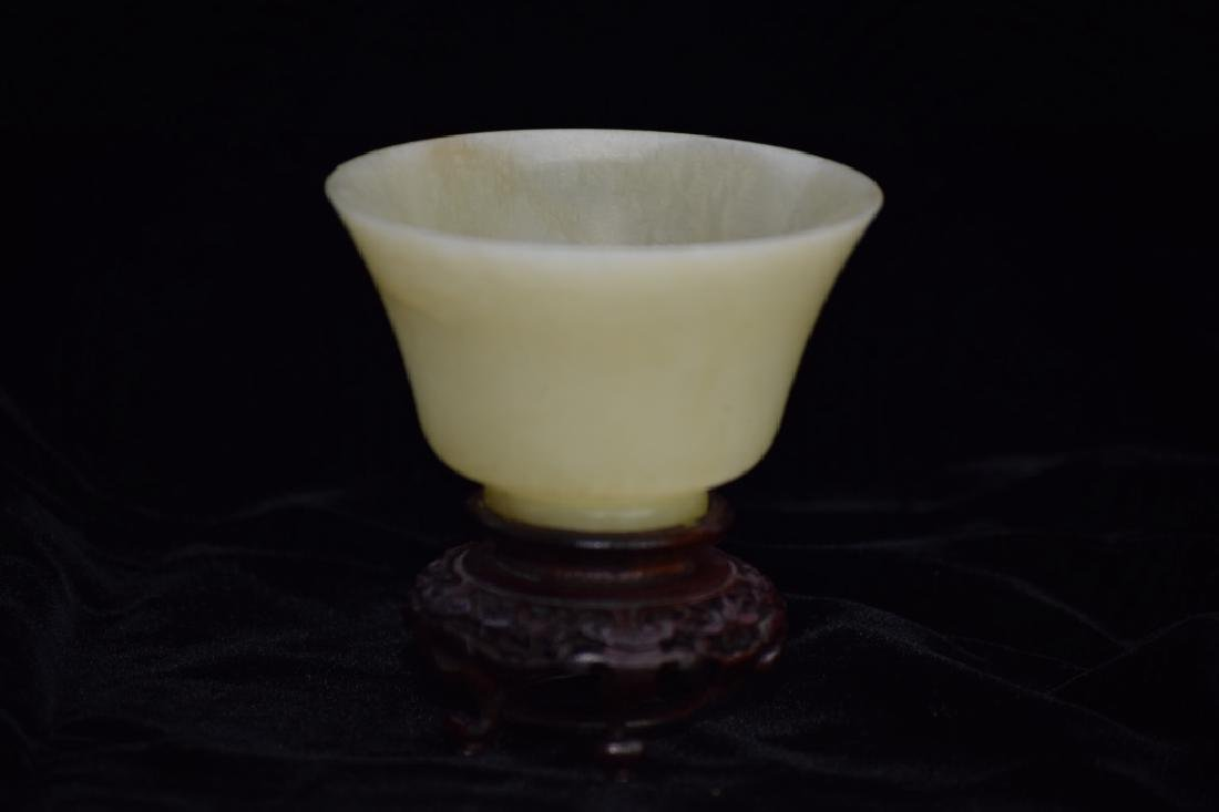 Qing Chinese Yellow Jade Carved Cup