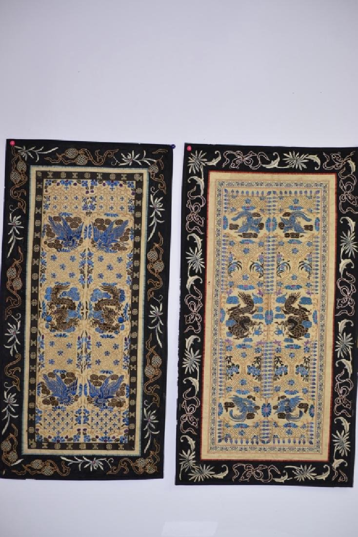 Two Qing Chinese Embroideries