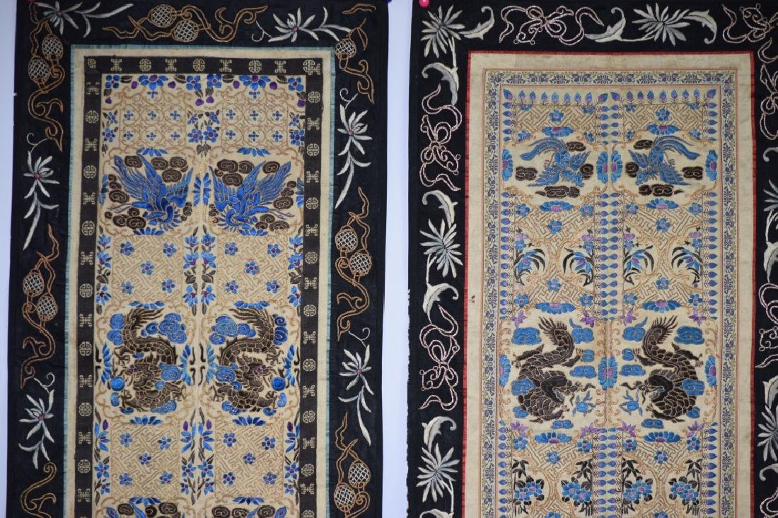 Two Qing Chinese Embroideries - 2