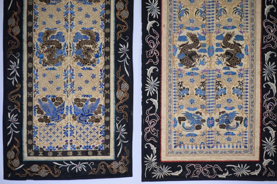 Two Qing Chinese Embroideries - 3