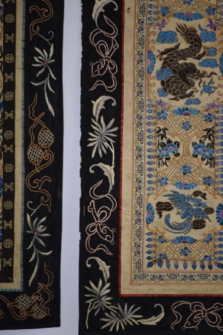 Two Qing Chinese Embroideries - 4