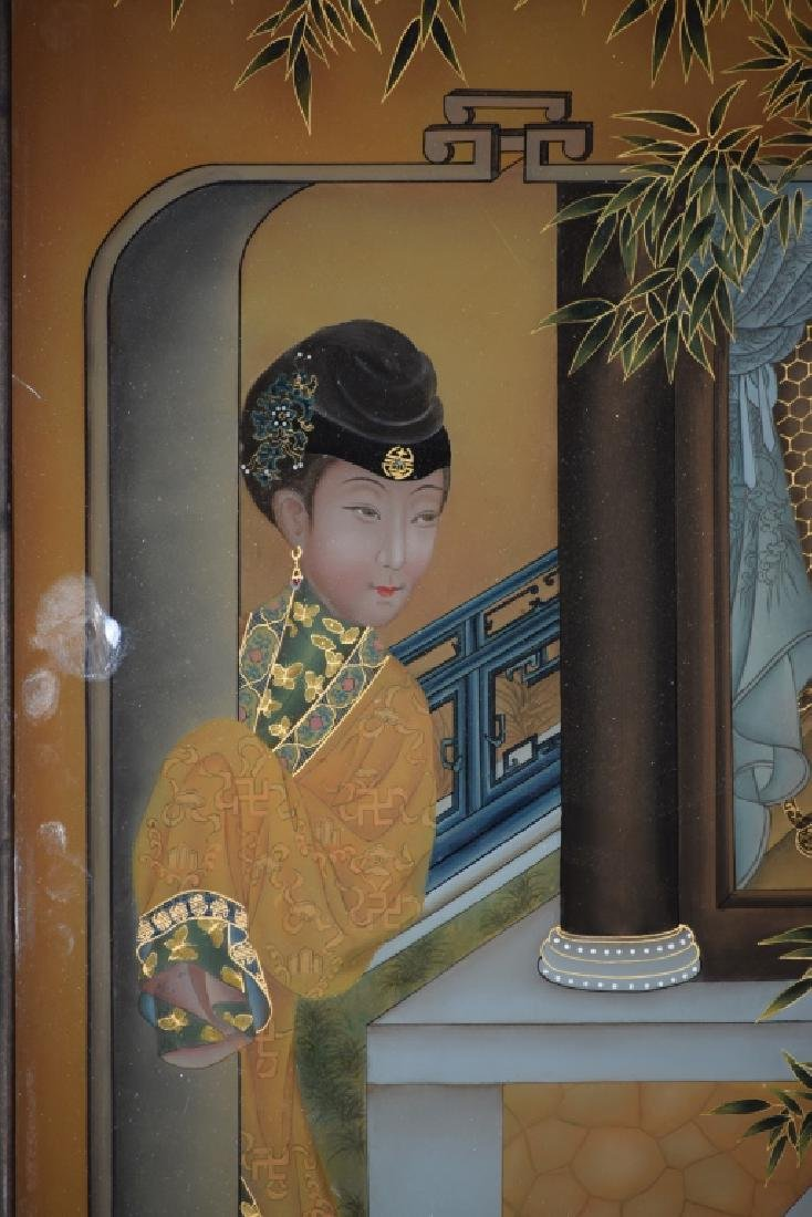 Chinese Reverse Glass Painting of Concubine - 2