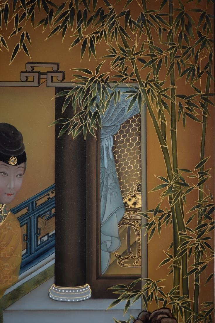 Chinese Reverse Glass Painting of Concubine - 3