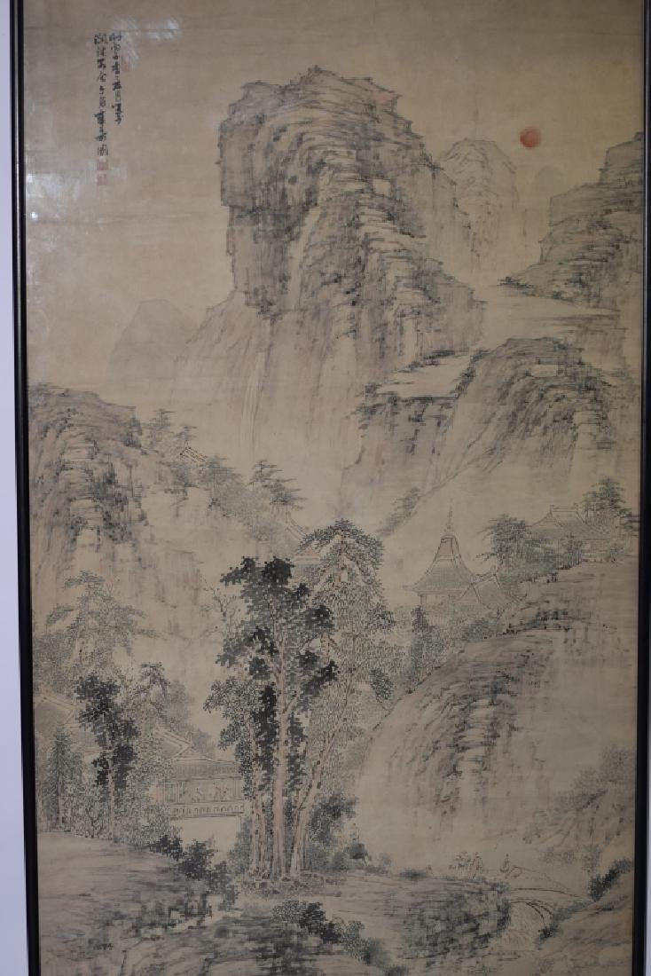 Chinese Watercolor Painting, after Zhang ShouTu