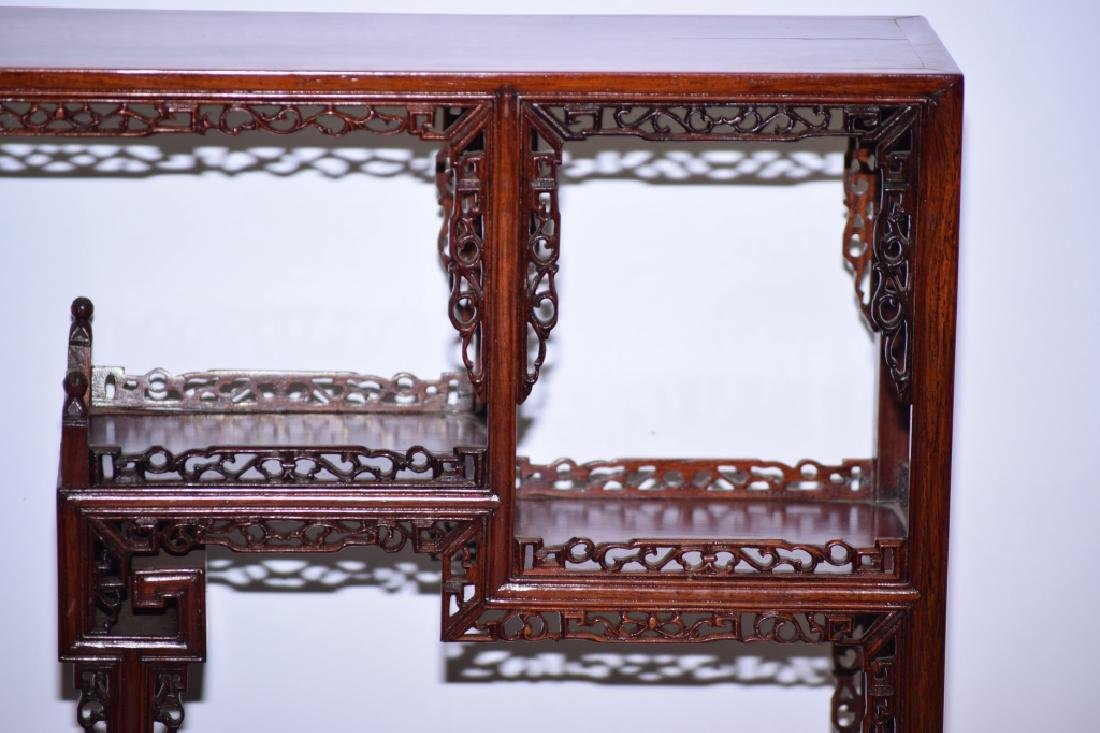 Chinese Hardwood Carved Curio Stand - 2