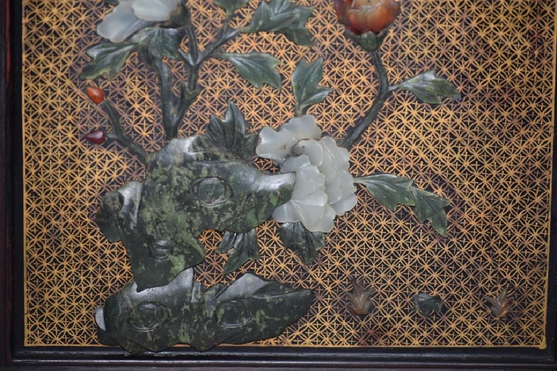 Republic Chinese Jade Inlaid Lacquered Hongmu Cabinet - 7