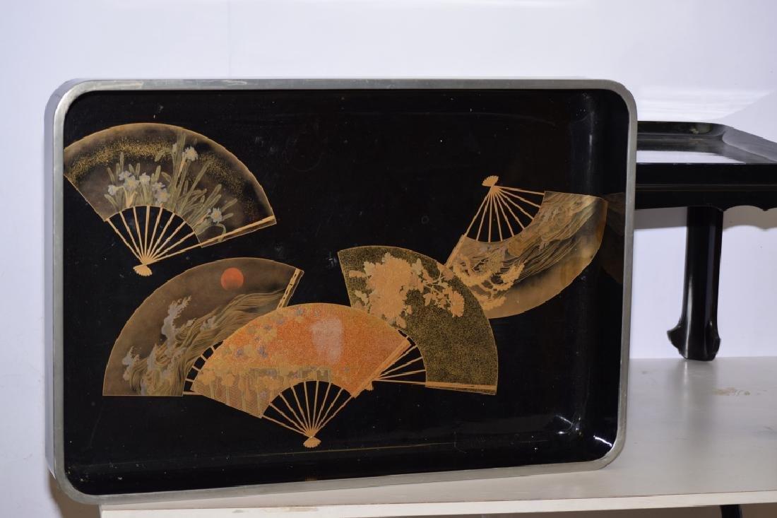 Japanese Black Lacquer Tea Table - 2