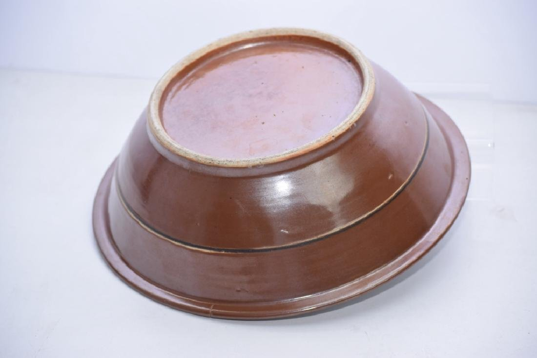 Qing Chinese Brown Glaze Blue and White Bowl - 4