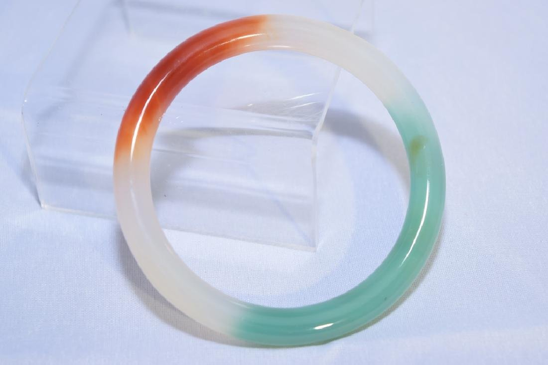 Chinese Multi-Color Agate Bangle Bracelet