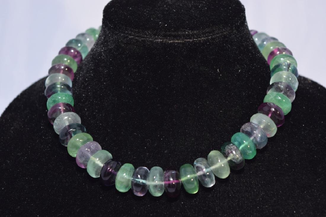 Multiple Colored Quartz Bead Necklace