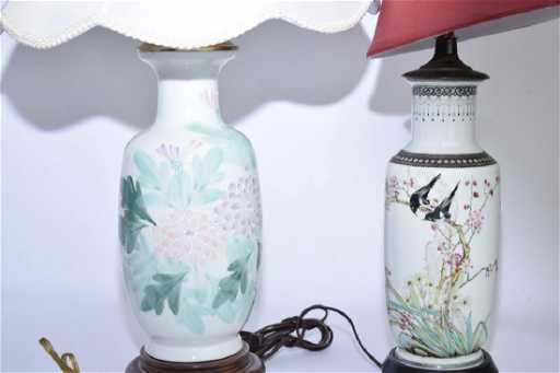 Two Chinese Vase Lamps