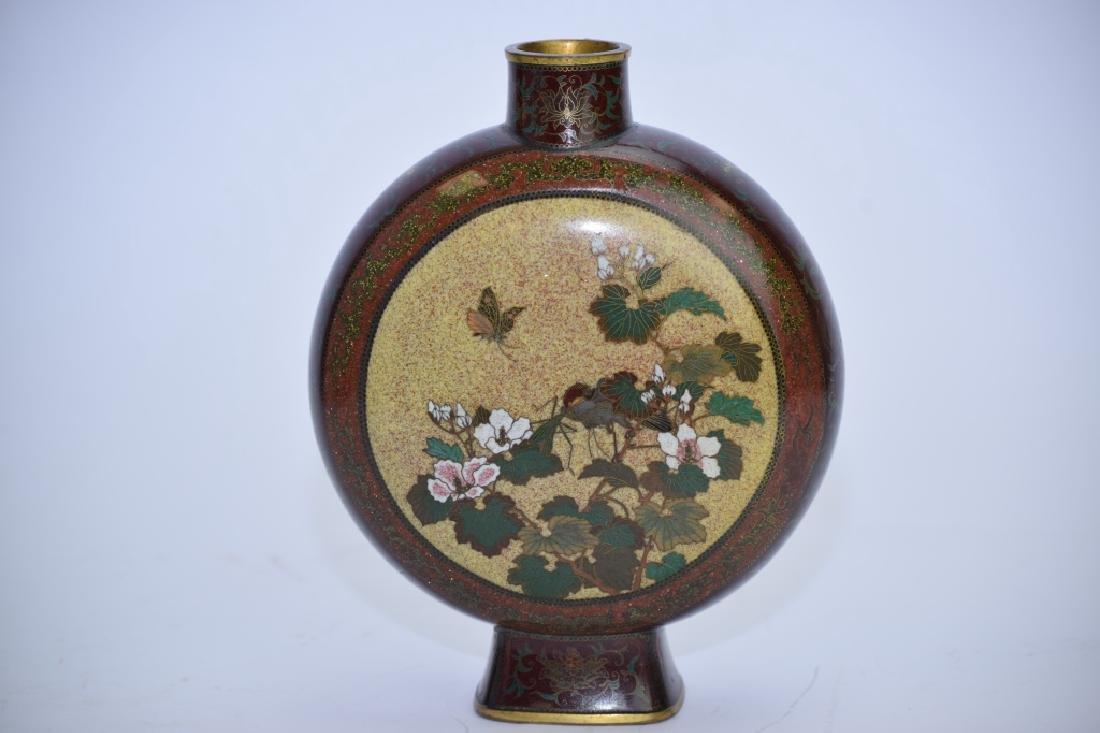 Meiji Period Japanese Cloisonne Vase - 3