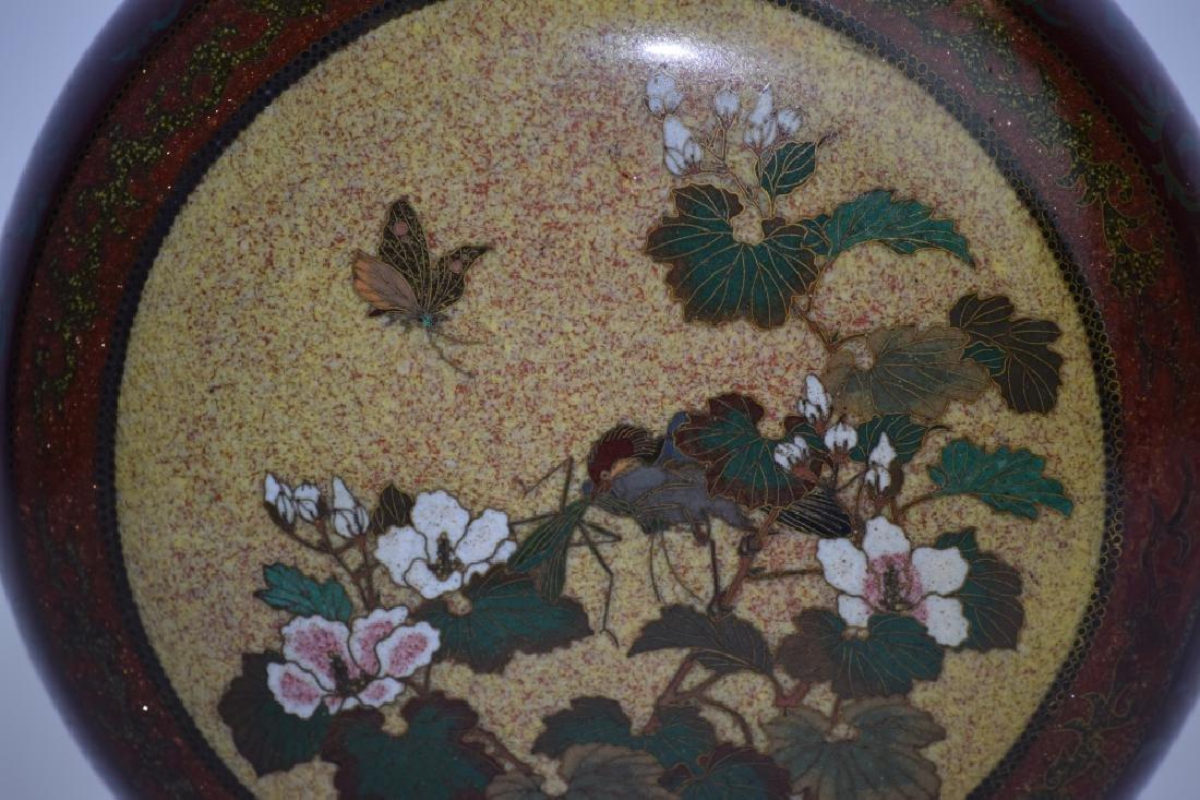 Meiji Period Japanese Cloisonne Vase - 4