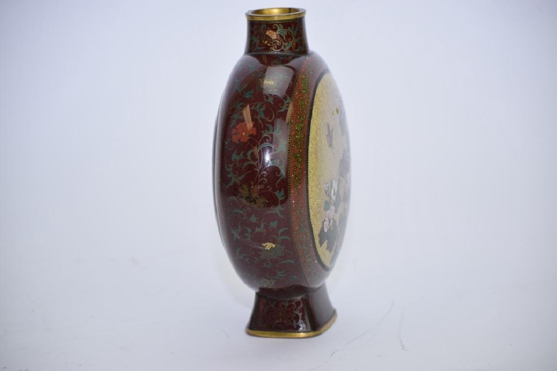Meiji Period Japanese Cloisonne Vase - 5