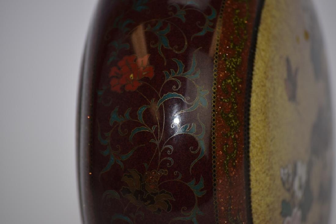 Meiji Period Japanese Cloisonne Vase - 6
