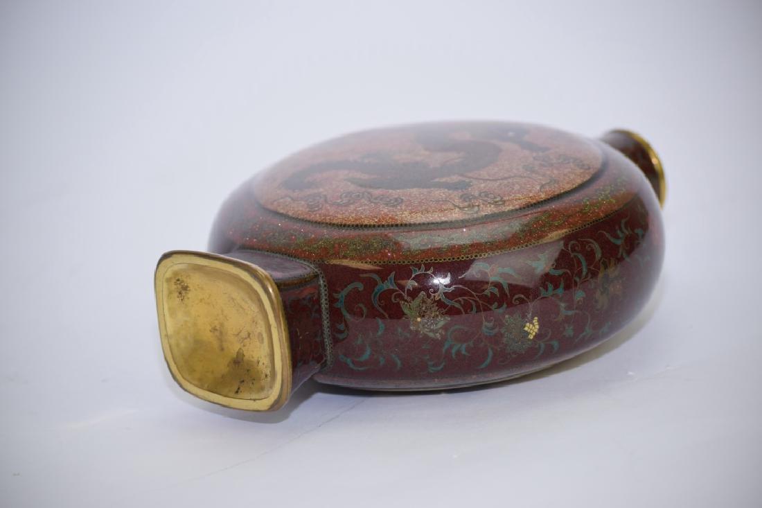 Meiji Period Japanese Cloisonne Vase - 7