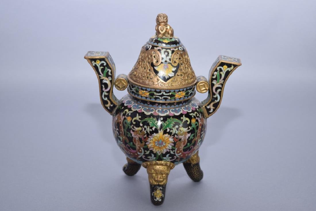 Qing Chinese Cloisonne Censer