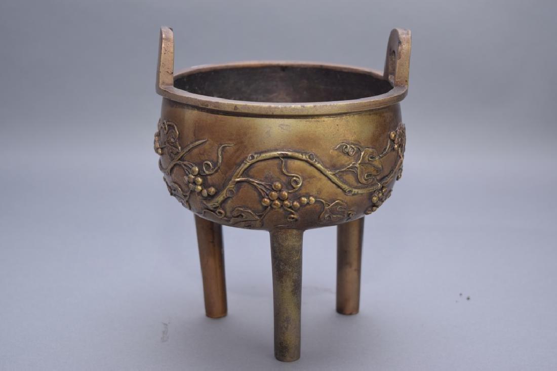 Chinese Bronze Three-Foot Incense Burner
