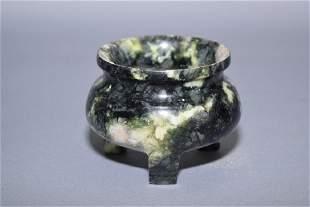 Chinese Jade Carved Incense Burner