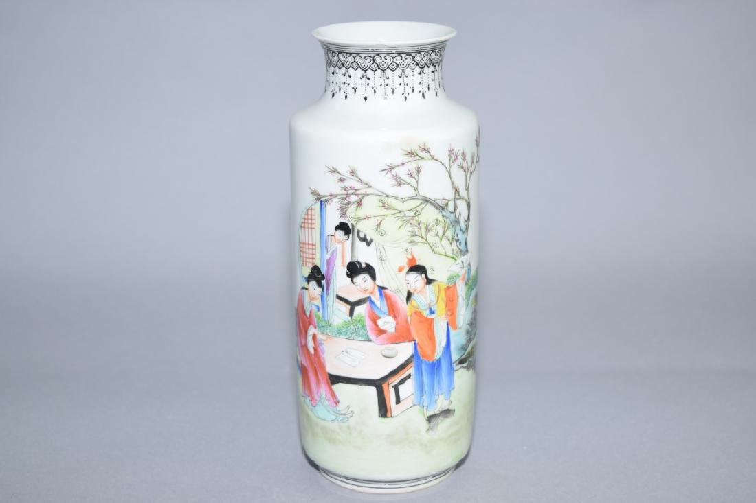 Republic Chinese Famille Rose Vase