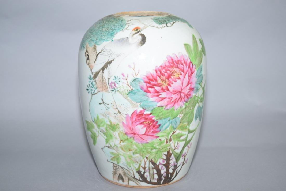 Late Qing Chinese Famille Verte Jar