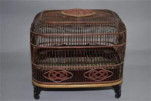 Japanese Bamboo Woven Bird Cage