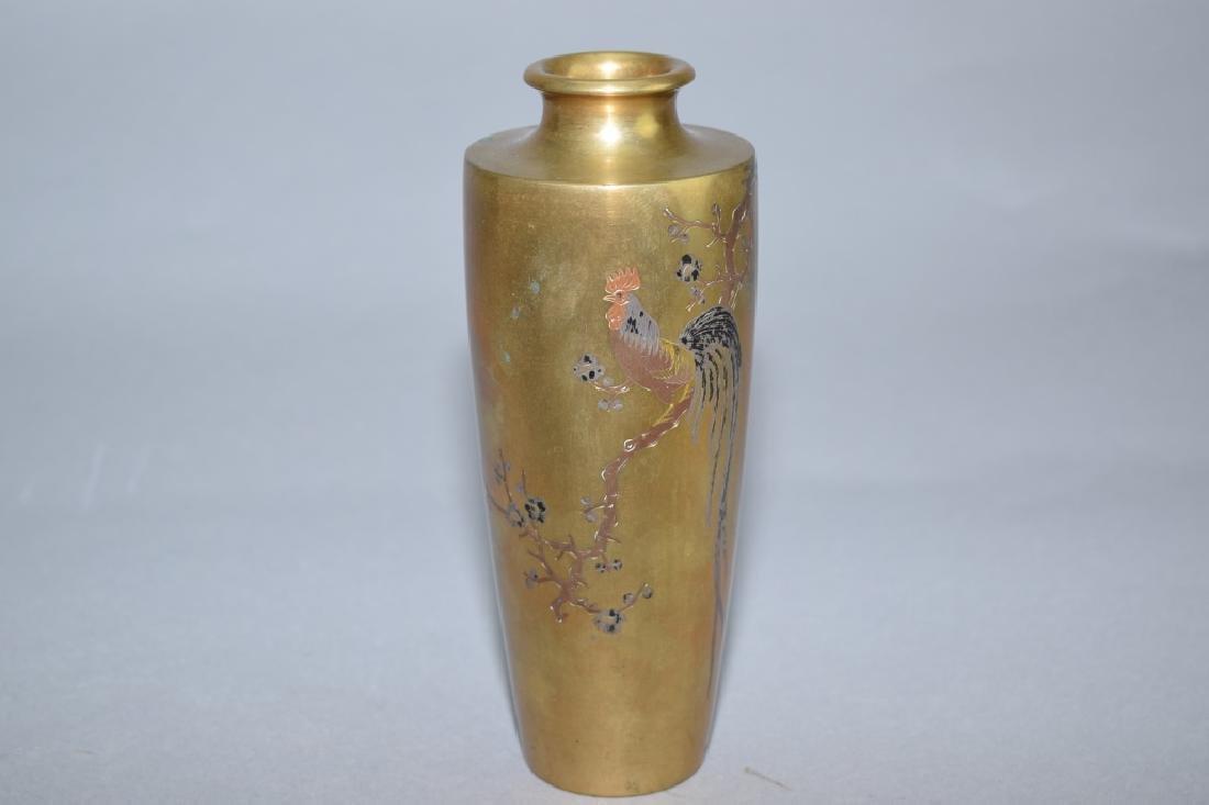 19th C. Japanese Gilt Bronze Vase