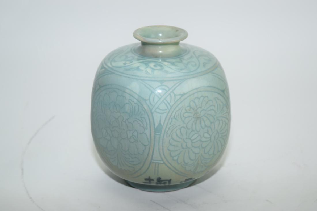 Meiji Period Japanese Celadon Jar
