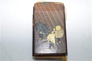 Meiji Period Japanese Gilt Lacquer Inro Box